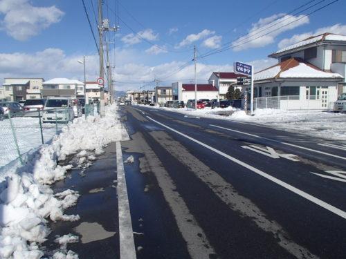 群馬県前橋市除雪作業後