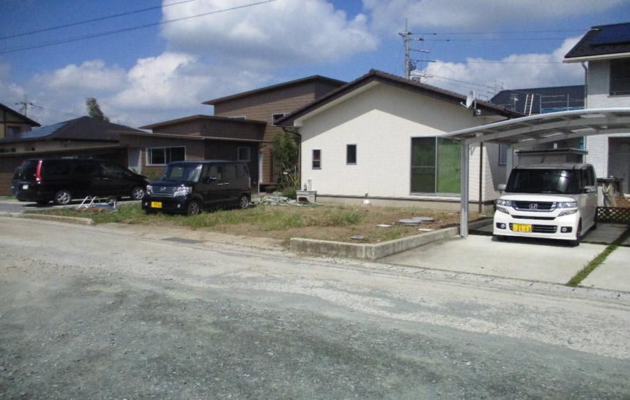 吉井町にて土間打設工事前