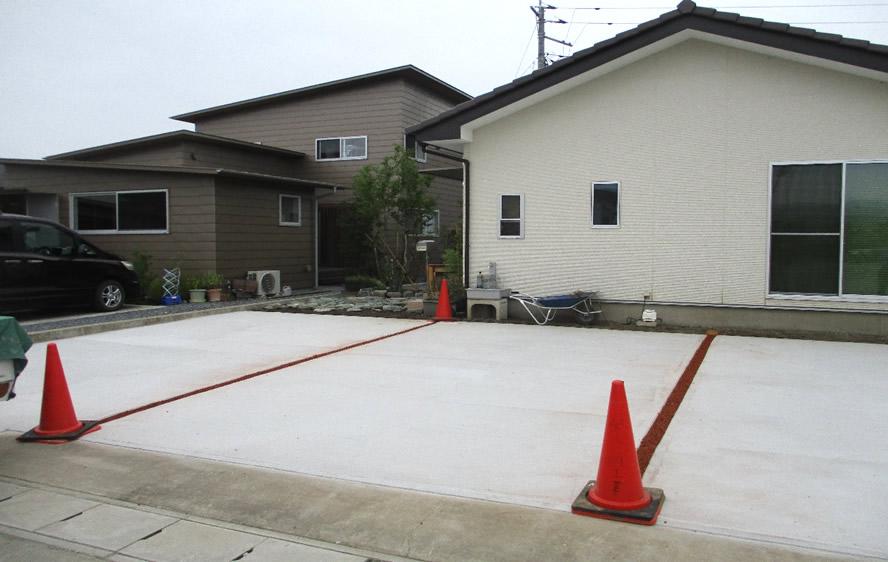 吉井町にて土間打設工事後