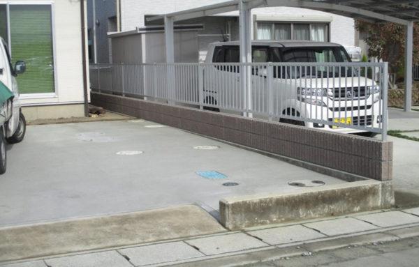 高崎市吉井町ブロック塀設置工事完成写真