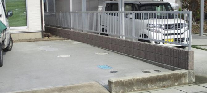 吉井町にてブロック塀設置工事