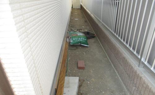 犬走り外構工事/工事前