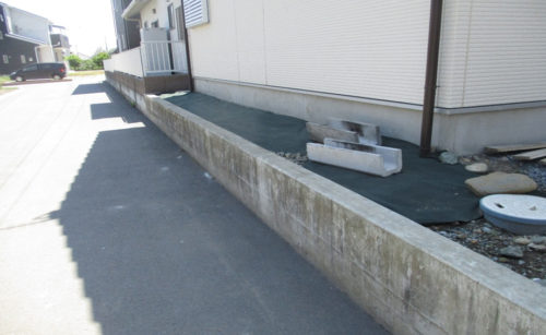 犬走りの外構工事/工事前