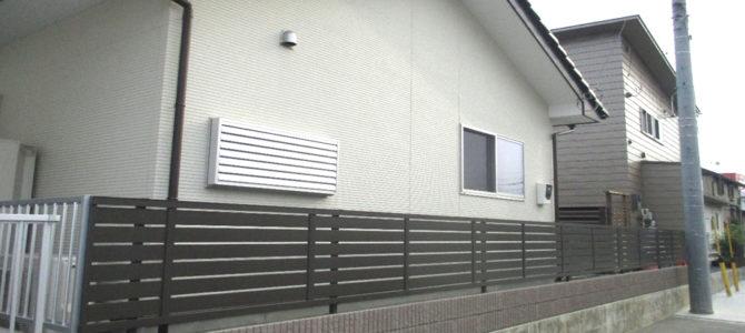 吉井町にてブロック積み工事